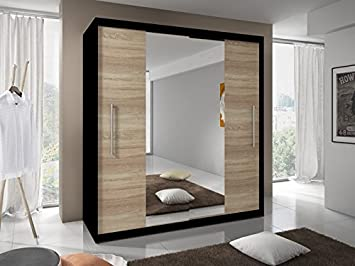 Modern Bedroom 2 Sliding Doors Wardrobe 6 Ft 8 Inch 204cm Choice