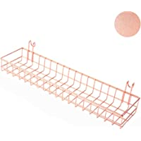 Rose Gold Straight Shelf Rack for Gridwall Grid Panel Wall Mountable Wire Organizer Storage Flower Pot Display Decor 9.8 x 3.9 inches