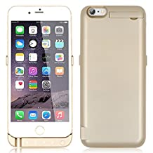 iPhone 6 Plus 6S Power Case MUZE® Apple iPhone 6 Plus 5.5 Inch Case Chargers External Portable Backup Battery Ultra Slim 10000mah External Battery Charger Power Bank Case Powerstation with Pop-out Video Kickstand Retail Package (Gold/1pcs)