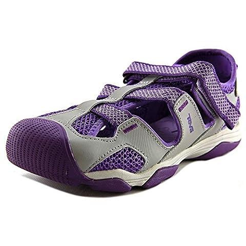 Teva Jansen Leather Kids Sport Shoe (Toddler/Little Kid/Big Kid), Grey/Purple, 11 M US Little Kid (Kid Teva Flip Flops)