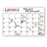 Magnetic Dry Erase Calendar for Fridge with Stain Resistant Technology - 17x12