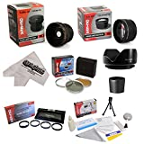 Kodak EasyShare P850 P712 Ultimate 15 Piece lens Kit Package Includes 0.20X Super Wide Angle Fisheye lens, 5 PC Close-Up Set (+1, +2,+4 with 10X Macro Lens) , 2.2x HD AF Telephoto Lens + 3 Piece Pro Filter Kit (UV, CPL, FLD) + Tube Adapter + Deluxe Lens C