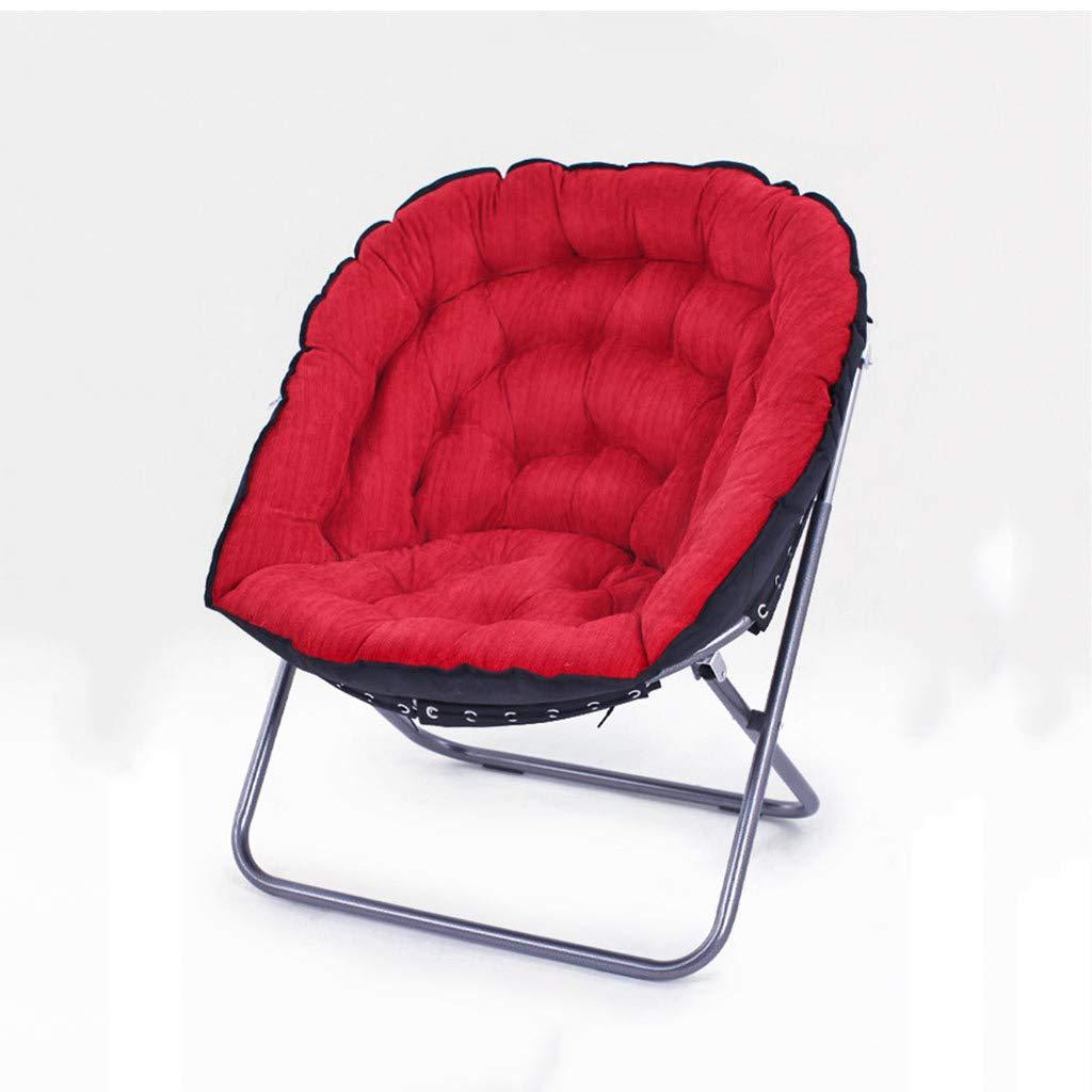 Chaise de lune pliante, bureau de salon de chaise paresseux se pliant décontractée portant forte (Couleur : E)