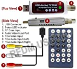 Universal Analog USB Cable TV Tuner With RCA A/V Input + DVR Software
