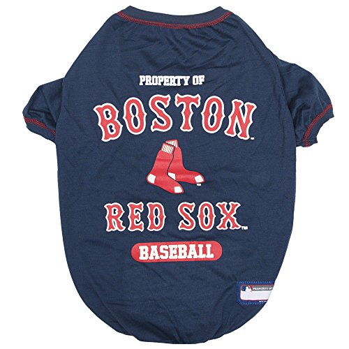 - MLB Boston RED SOX Dog T-Shirt, X-Large. - Licensed Shirt for Pets Team Colored with Team Logos