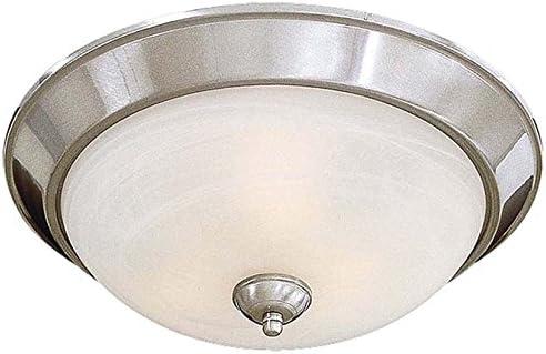 Minka Lavery Flush Mount Ceiling Light 893-84, Paradox Round Glass Fixture, 3 Light, 180 Watts, Nickel