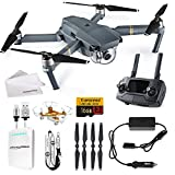 DJI Mavic Pro Drone World Exclusive Starter Pack - Portable Battery Bank, Lanyard, iPhone Cable, Cleaning Cloth & Free Mini Drone!