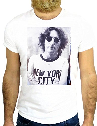 T SHIRT JODE Z2079 COOL NEW YORK LENNON SINGER ARTIST COOL FUN NICE GGG24  BIANCA -