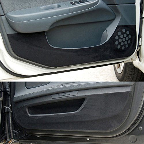 Black Turbo 2012 2017 Premium Suede Door Entry Protect Anti Scratch Cover Accessories For Hyundai Veloster