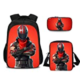 Fortnite Backpack School Book Bag for Kids Girls Boys 3 in 1