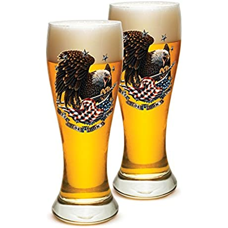 Pilsner Veterans Gifts For Men Or Women American Soldier Beer Glassware These Colors Don T Run Patriotic Barware Glass Set Of 24 23 Oz