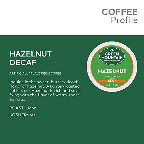 Green Mountain Coffee Roasters Hazelnut, Single Serve Coffee K-Cup Pod, Decaf, 72 by Green Mountain Coffee Roasters (Image #4)