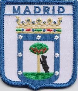Madrid de la bandera de España parche escudo del Real Mallorca: Amazon.es: Jardín
