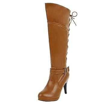 2e7fd77a620 Amazon.com: Wide Calf Knee High Boots, Women Thin Heels Tall Riding ...