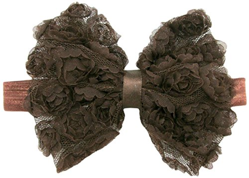 Hairbows Unlimited Rosette Bow Headband for Babies and Young Girls (Brown)