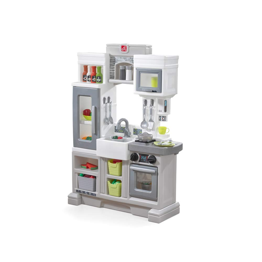 Step2 Downtown Delights Play Kitchen | Kids Kitchen Playset | Kitchen Toy with Realistic Lights & Sounds by Step2