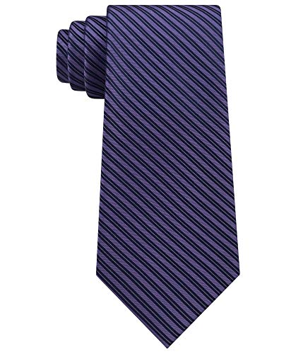 Calvin Klein Mirror Pinstriped Men's Silk Woven Neck Tie Blue Not Applicable