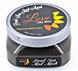 Dead Sea Mud Facial Mask – Ancient Skin Care Treatment for Face and Body + FREE APPLICATOR SPATULA – Anti-Aging Miracle: Reduces Fine Lines & Wrinkles by Stimulating Your Skin's Collagen Production – 35 Minerals Nourish, Purify & Detoxify Skin – Provides Deep Pore Cleansing & Gentle Exfoliation – Hydrates & Tones for Younger, Radiant, Healthy Skin – Excellent for Acne, Eczema, Psoriasis – 7 Ounces – 100% Money Back Guaranty For Sale