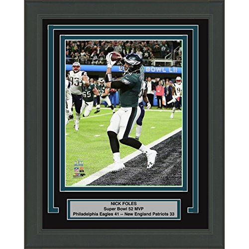 Framed Nick Foles Philadelphia Eagles Super Bowl 52 Mvp Champions 8X10 Football Photo Professionally Matted  2