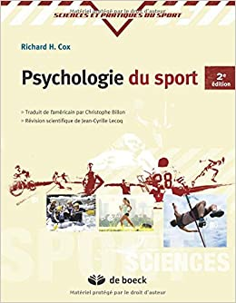 Amazon Fr Psychologie Du Sport Richard H Cox Livres