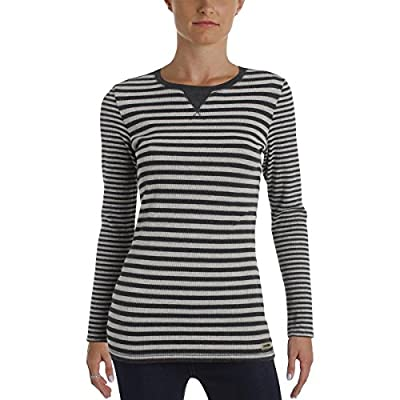Calvin Klein Performance Womens Striped Thermal Pullover Top