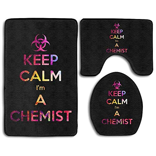 Keep Calm I'm A Chemist Bathroom Rug Set 3 Piece Bath Rug Set