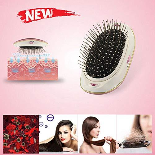 ROKOO Cepillo de pelo iónico eléctrico portátil para llevar Mini herramienta de masaje de peine cepillo de pelo: Amazon.es: Belleza