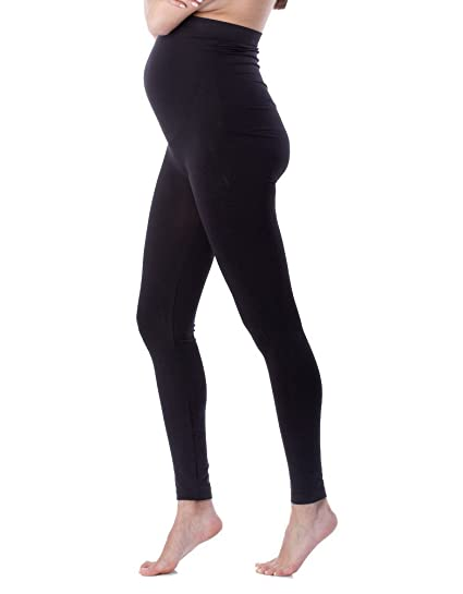 5d7e76220f3 Amazon.com  Seraphine Holi Seamless Maternity Leggings - Black ...