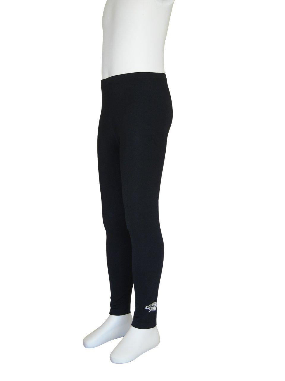 Stingray Black UV Sun Protective Swim Tights for Boys /& Girls- Swim Pants sizes 4-14. Sun Protection Swimming Leggings 6