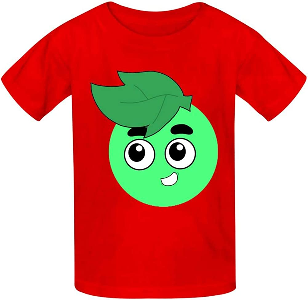 Donoii Guava Juice Basic Daily Wear Cotton Graphic T Shirts for Girls and Boys