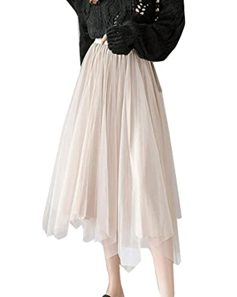 YAOTT Mujer Dos Formas de Llevar Falda Plisada de Terciopelo ...