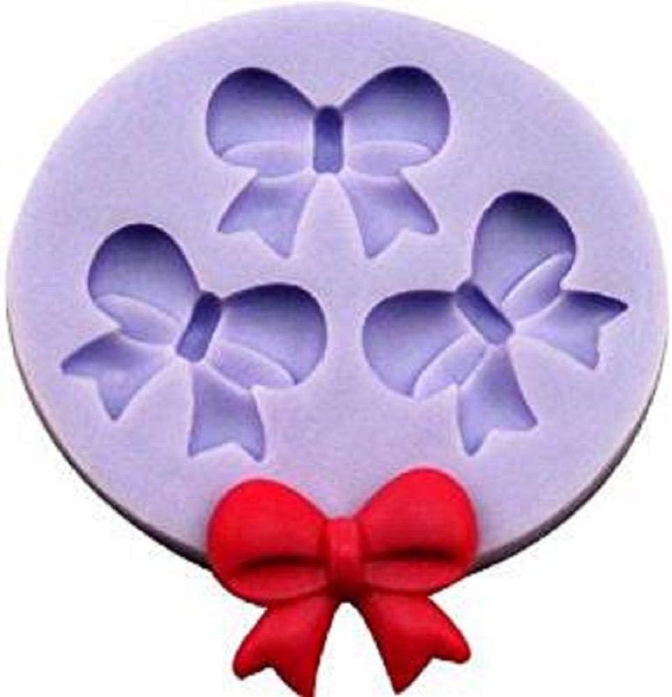0.9cm 5.7 Doitsa 5 1pcs Moule /à Bow-Knot en Silicone 3 Cavit/és Moule /à Biscuit D/écoration de G/âteau Moule /à P/âtisserie Moule de Cuisson