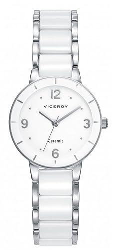 Viceroy Reloj Analogico para Mujer de Cuarzo con Correa en Cerámica 471044-05: Amazon.es: Relojes