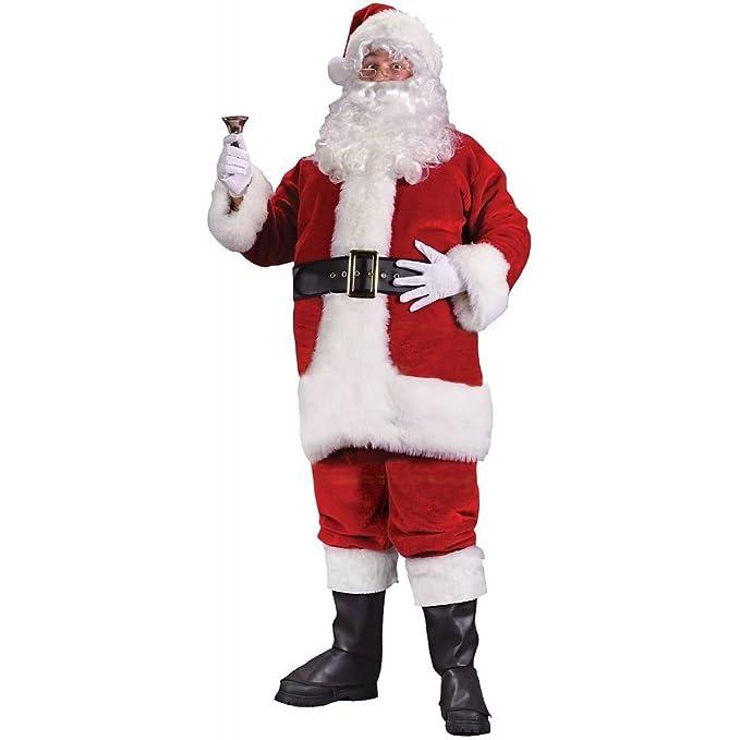 Amazon.com: chsgjy Santa Claus Costume Adult Mens Deluxe ...