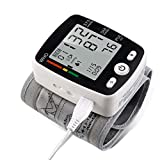 Wrist Blood Pressure Monitor with USB Charging, Portable Automatic Digital BP Machine,180 Reading