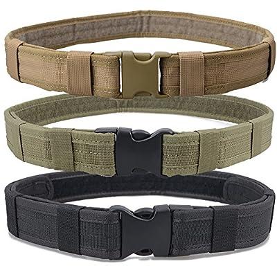 Triwonder Men's 1.5 Inch Tactical Heavy Duty Belt Combat Gear Utility Nylon Belt with Side Release Buckle