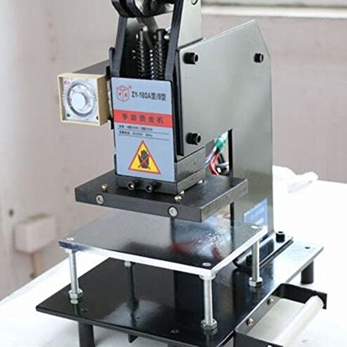 BMGIANT Manual Hot Foil Stamping Machine Printer Leather Logo Embossing Machine 1510Cm 220V