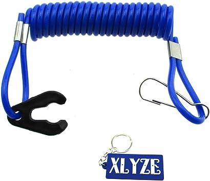 XLYZE Safety Tether Cordón de cordón azul para interruptor de la muerte Jet Ski Boat Yamaha Raptor Banshee Blaster ATV