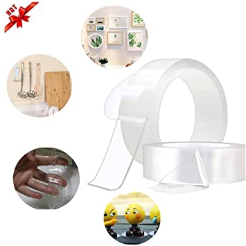 Amazon.com: UEncounter Traceless Washable Adhesive Tape ...