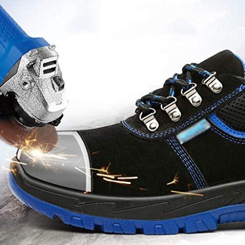 安全靴 軽量で消臭性のあるスチール製のつま先キャップ抗スマッシング防止 - ピアス防止作業靴 安全靴 スニーカー (Size : 44)