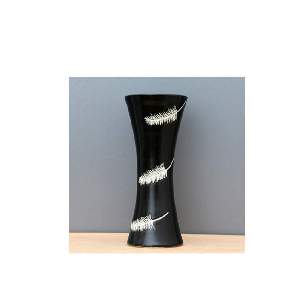 セラミック花瓶装飾リビングルームフラワーフラワーポット多重機能収納花瓶 QYSZYG B07R3B4NHC