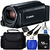 Canon VIXIA HF R800 Camcorder (Black) - 6PC Accessory Bundle Includes 16GB SD Memory Card + Medium Carrying Case + Mini HDMI to HDMI Cable + High Speed Memory Card Reader + MORE