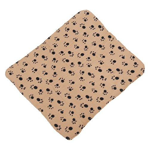 SODIAL(R) Pet Blanket Pet Blanket Fleece Blanket Dog Blanket Animal Blanket cat pet Blanket 60x70cm (Cream) ()