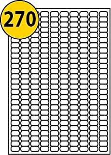 image about Small Printable Labels identify 270 For every Website page/Sheet, 5 Sheets (1350 Sticky Reduced MICRO Labels