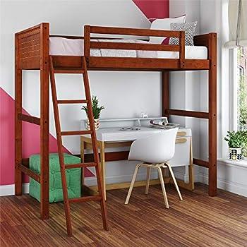 37e6e50f65b4 Amazon.com  Dorel Living DL2906WN-DC Moon Bay Loft Bed Twin Walnut ...