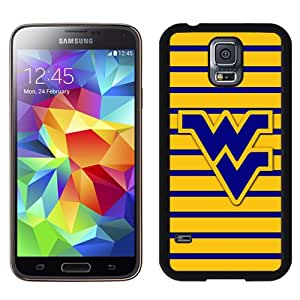 Fashionable And Unique Designed With NCAA Big 12 Conference Big12 Football West Virginia Mountaineers 1 Protective Cell Phone Hardshell Cover Case For Samsung Galaxy S5 I9600 G900a G900v G900p G900t G900w Phone Case Black