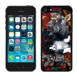 New Design Iphone 5C TPU Case Christmas Kittens Black iPhone 5C Case 1