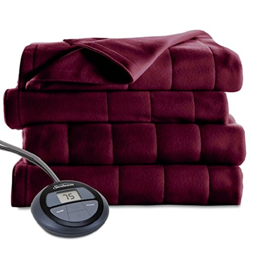 Sunbeam Microplush Heated Blanket, King, Garnet, BSM9BKS-R31