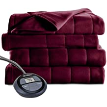 Sunbeam Microplush Heated Blanket, Full, Garnet, BSM9BFS-R310-16A00