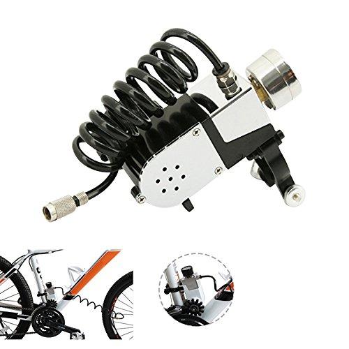 プロフェッショナル ポータブル ハイスピード インパルション バイク ポンプ & 修理ツールキット - プレスタ&シュレーダー用 - 120 PSI  ホワイト B073N8PX6R